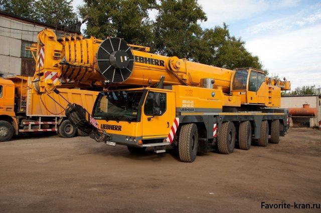 Аренда автомобильного крана грузоподъемностью 150 тонн